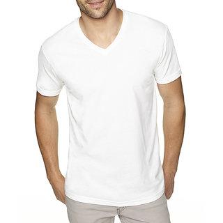 Men T-Shirt Plain White 100 Cotton