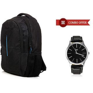 Combo of Laptop Bag Stylish Watch