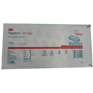 3M Tegaderm HP+Pad 8591IN Film Dressing with Non-Adherent Pad Individual Pack