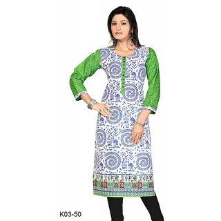 Ishani collections white cotton kurti