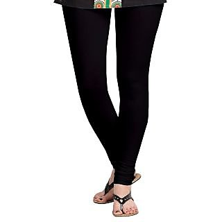 Womens Cotton Slim Fit Black Legging