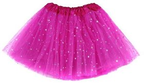 Soft Net Formal tutu Skirt with stars, sequin and glitters