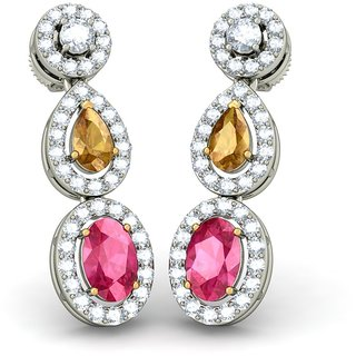 Joyra 92.5 Sterling Silver Earings Made With Cubic Zirconia  For Women BZE101