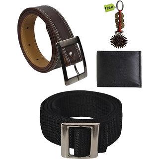 Elligator Stylish Belt  Wallet With Free Key Chain Combo