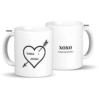 Giftcart-Personalised Struck by Love Mug