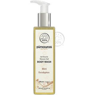 purenaturals  Minty Shower Gel Body Wash 200ml 100natural