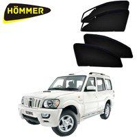 HOMMER UV Magnetic Sunshade Car Curtain with Zipper for Mahindra Scorpio