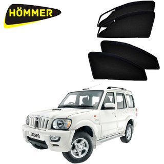 HOMMER UV Magnetic Sunshade Car Curtain with Zipper for Mahindra Scorpio