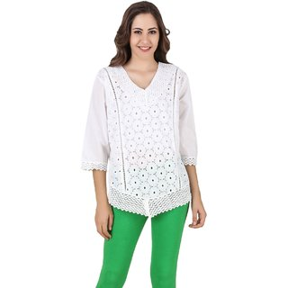 Stylishbae Casual Embroidered Womens Tunic