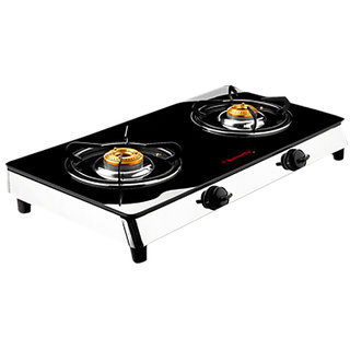 Butterfly 2 Burner-Reflection Glass Cooktop