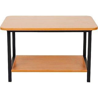 FurnitureKraft Engineered Wood Coffee Table(Finish Color - Black)