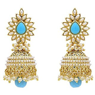 Stylish And Trendy Gold Plated Pearl Jhumki