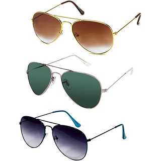 Eddys Blue UV Protection Aviator Men Sunglasses Combo