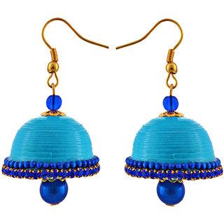 Little Jaipur Hancrafted Blue Hook Jhumka