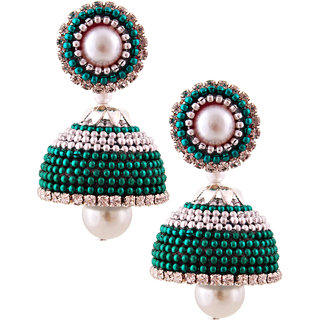 Little Jaipur Hancrafted Ballchain Multicolor Jhumka