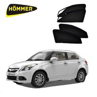 HOMMER UV Magnetic Sunshade Car Curtain with Zipper for Maruti Suzuki Dzire