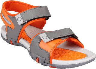 Clymb Men's Gray & Orange Velcro Floaters