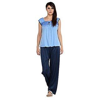 Blue Cotton Nightsuit