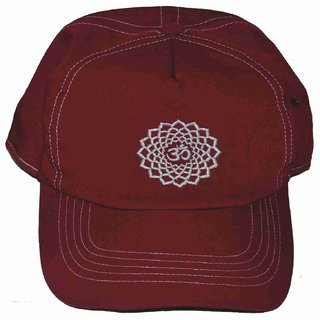 BAIMI MURALI STORE Cotton Cap Tibetian Red