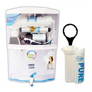 AquaUltra A400 Transparent 14Stage Ro+Uv+Uf+Mineral+Tds Controller Water Purifier