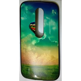 Rubberized Soft Jelly Back Cover For MOTO G3
