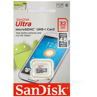 SanDisk Ultra 32GB Class 10 Memory Card 48MB