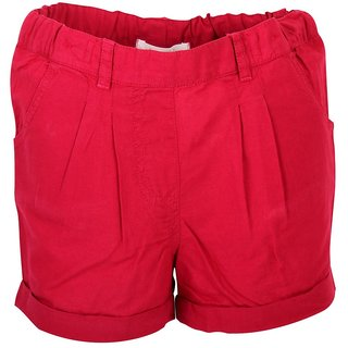 Apricot Kids Red Shorts For Girls