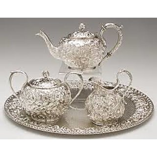 Brass Silver Plated Tea Set  sc 1 st  ShopClues.com & Brass \u0026 Silver Plated Tea Set In India - Shopclues Online