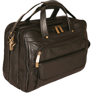 f6c5c5143fe8 100% GENUINE INDIAN Leather new Executive Bag Office Messenger Laptop Bag  BL JR82