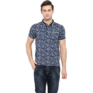 Duke Duke Stardust Navy Mix Cotton Blend T-Shirt For Men