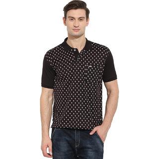 Duke Duke Stardust Black Cotton Blend T-Shirt For Men