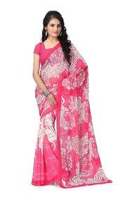 Vaamsi Womens Chiffon Saree With Blouse Piece