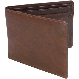MW05 Brown Pure Leather Gents Formal Wallet