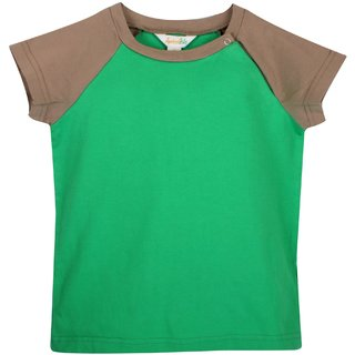 Apricot Kids Green  Orange T-Shirt For Boys