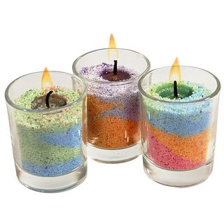 Perfect Homemade Candles With Coloured