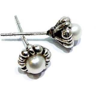 PEARL EARRINGS STERLING SILVER 92.5