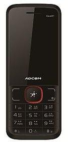 ADCOM 201+ dual sim mobile phone Black  Red