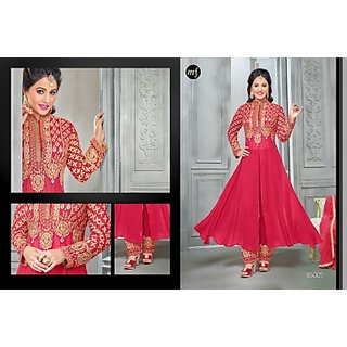 Georgette suit with embroidery