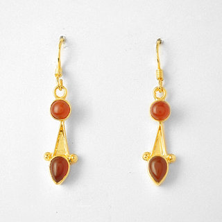 Silver with semi-precious red onyx stone Earring to be touched by nature, is to infuse the spirit with life.