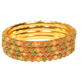 Pourni Pearl 4 bangles set for women - PRBG14