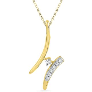 Ishis 18 Kt Artistic Yellow Gold Diamond Fashion Pendants (0.06 CT)