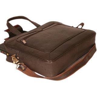 100GENUINE INDIAN Leather new Executive Bag Office Messenger Laptop Bag BR JR84