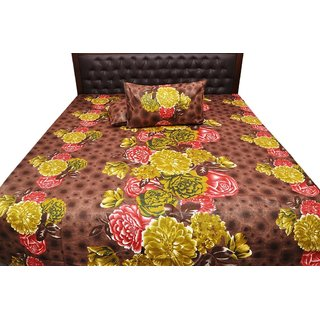 Prosean Print 3 Pc. Cotton Double Bed Sheet /Spread/ Bed Cover SRA2164