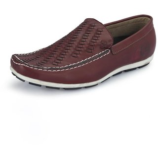 Italiano Men's Red Loafers
