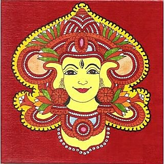 Kerala Mural Durga Painting