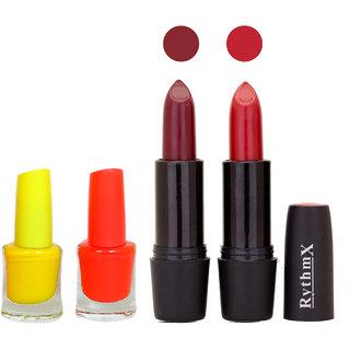 St Black Rythmx Lipsticks Nail Polish Combo 30