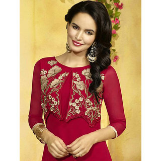 Amarsaadgi Cloud Nine Fancy Red Georgette Kurti