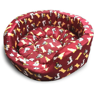 Dog Bed Bone Brown Small