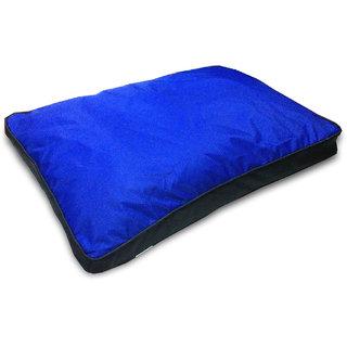 Dog Water Repellent Bed Blue Black 36 inch Medium