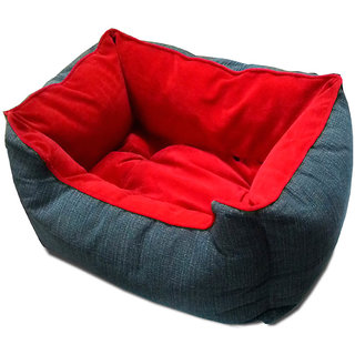 Dog Bed Deep Small Red